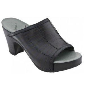 Dansko Randi slide mules black heels  womens sz 39